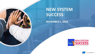 New System Success Webinar