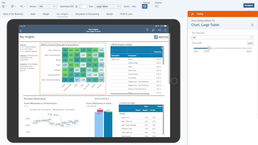 Dashboard Design-SAP Analytics Cloud